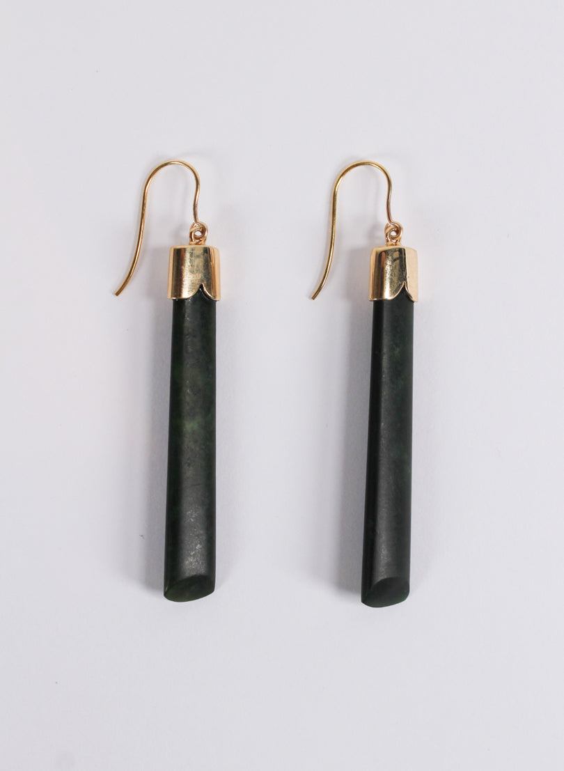 Short Pounamu Drop Earrings 3