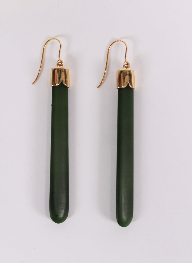 Medium Pounamu Drop Earrings 3