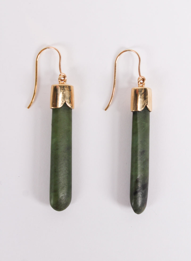 Short Pounamu Drop Earrings 1