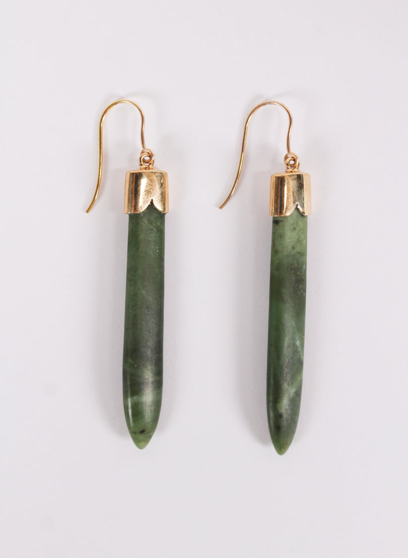 Short Pounamu Drop Earrings 4