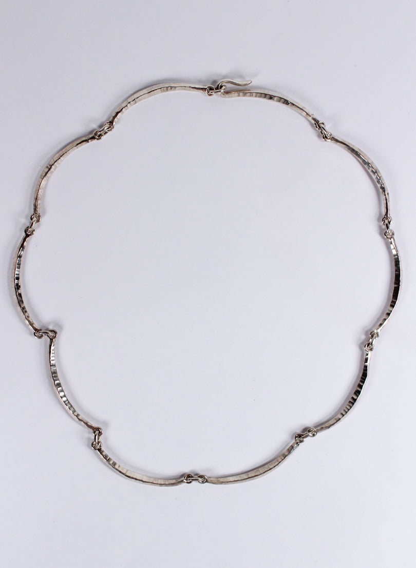 Scalloped Forged Necklace - Sterling Silver