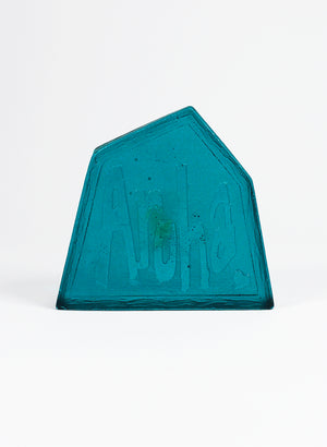 Small Cast Glass Object 'Aroha' - Jade