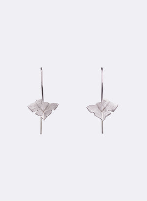 Leaf Tip Earrings - Sterling Silver