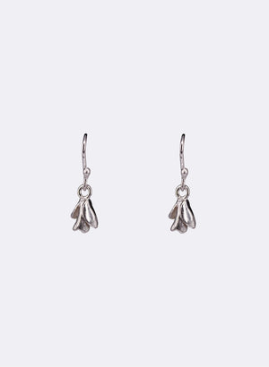 Flower Bud Earrings - Sterling Silver