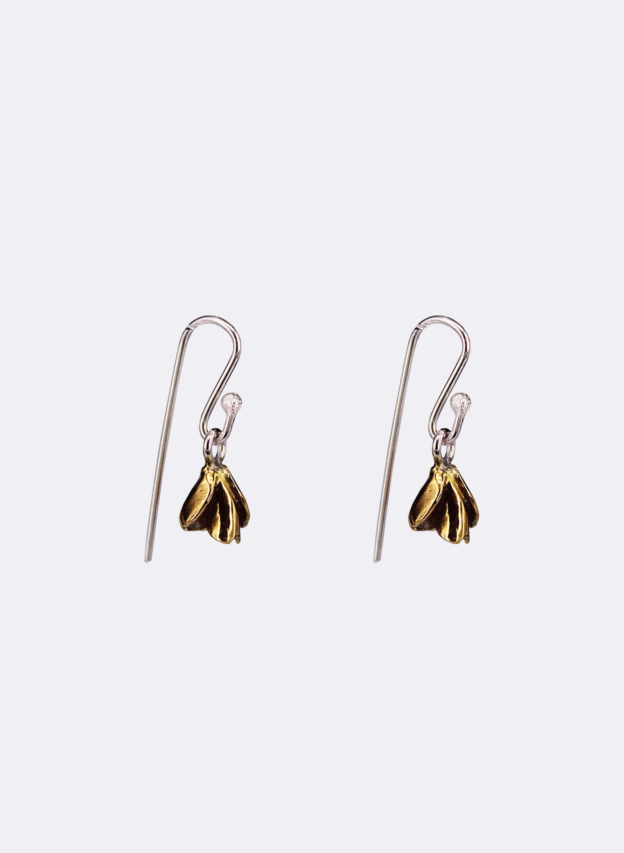 Flower Bud Earrings - Yellow Gold