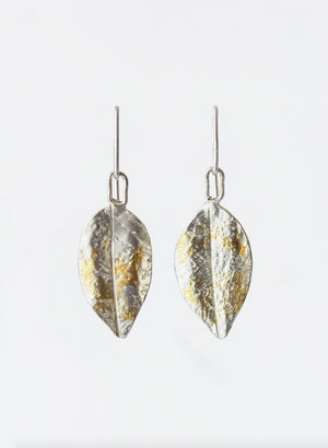 Small Pohutukawa Leaf Earrings