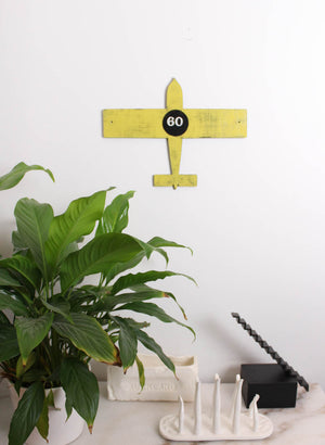 Wooden Plane - Yellow 60