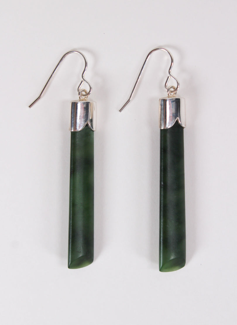 Short Pounamu Drop Earrings 7