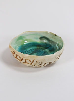 Medium Double Fern Pinch Bowl