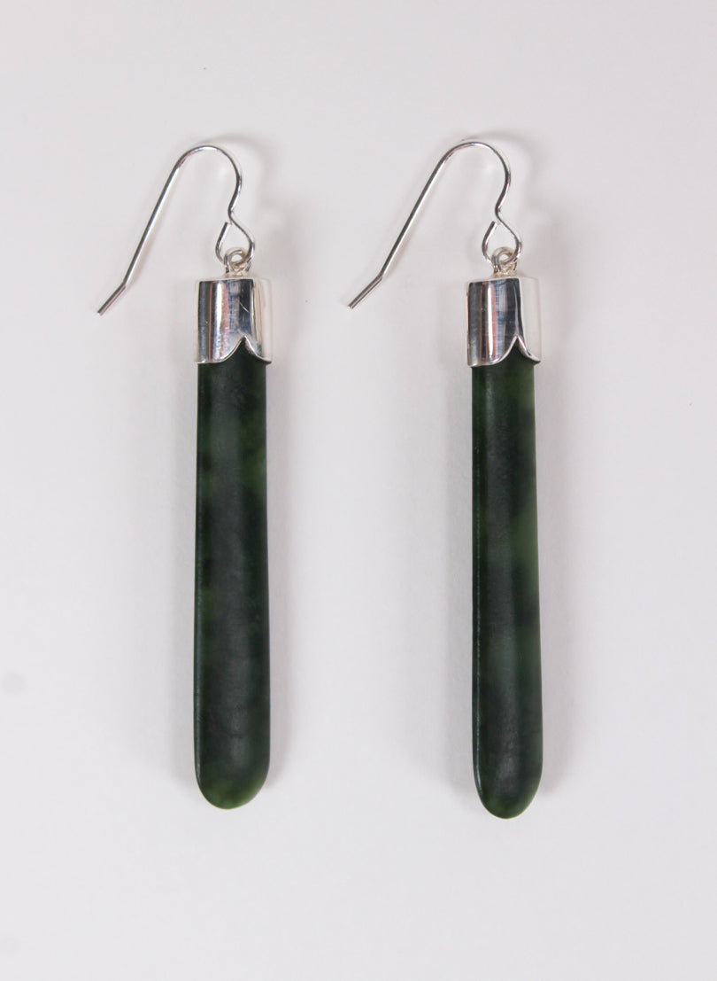Short Pounamu Drop Earrings 9
