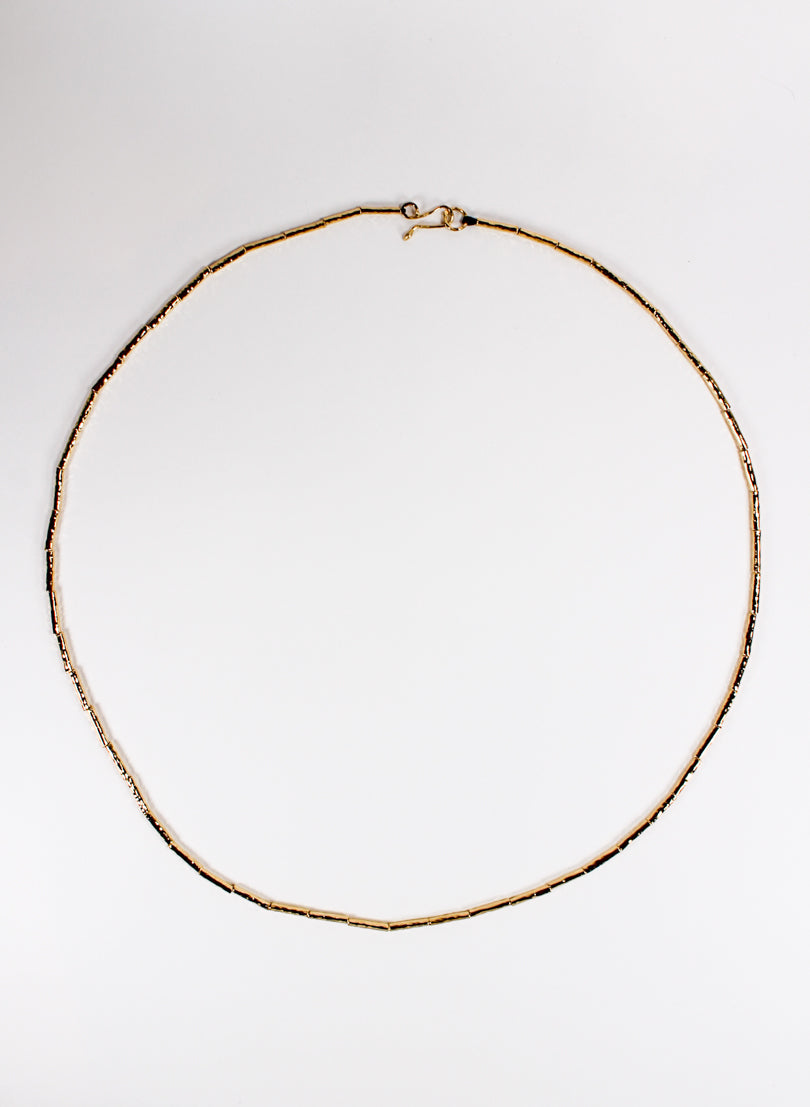 Kauri Bead Necklace - Gold