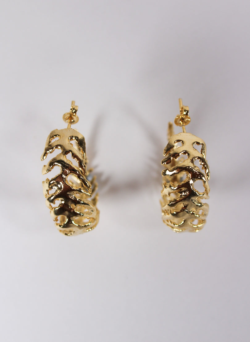 Silver Fern Gold Earrings - Gold Plated