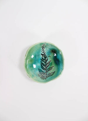 Small Single Fern Pinch Bowl #52