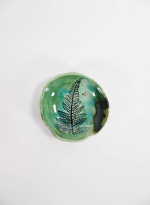 Small Single Fern Pinch Bowl #53