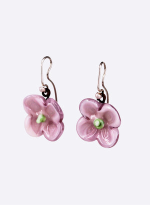 Flower Drop Earrings (Pretty Pink)