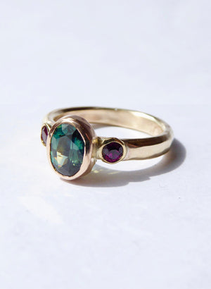 Parti Sapphire Oval Chloria Ring