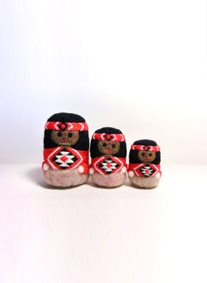 Maori Dolls - Set of 3 Red