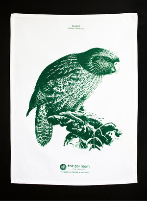 Native Kakapo Tea Towel