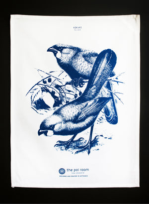 Native Kokako Tea Towel