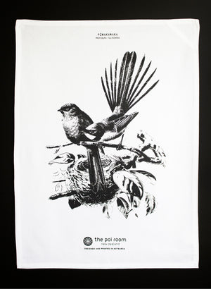 Native Piwakawaka Tea Towel