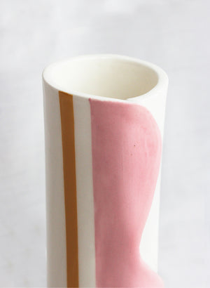 Wave Vessel - Pink & Yellow