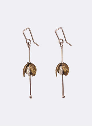Stylised Bronze Fuchsia Earrings