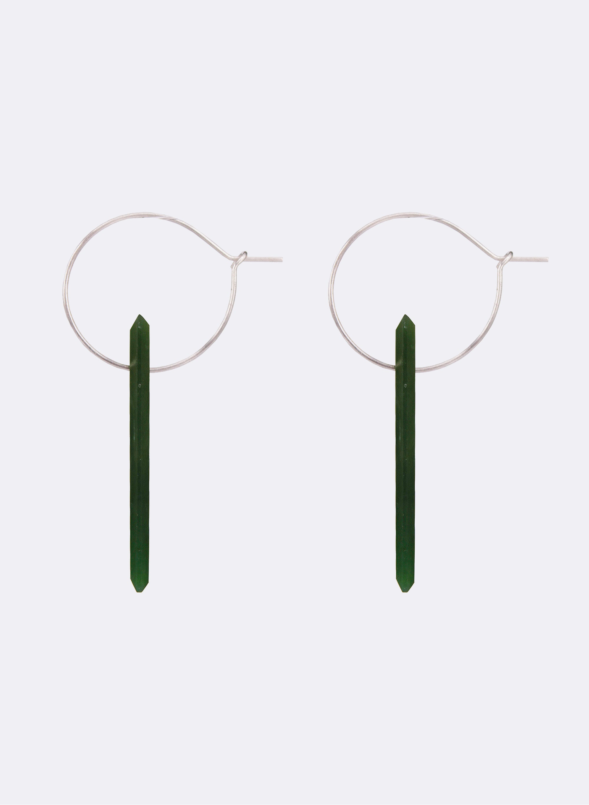 Pounamu Facet Hoop Earrings