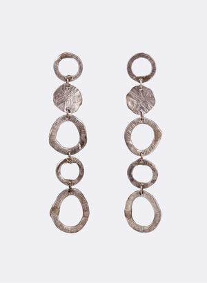 Cascading Silver Earrings