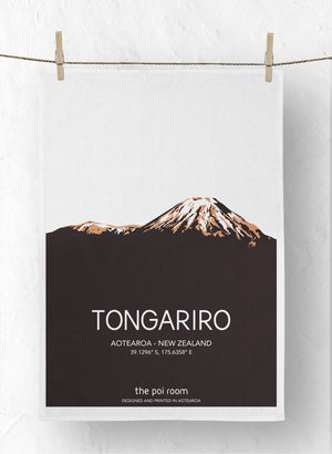 Tongariro Tea Towel