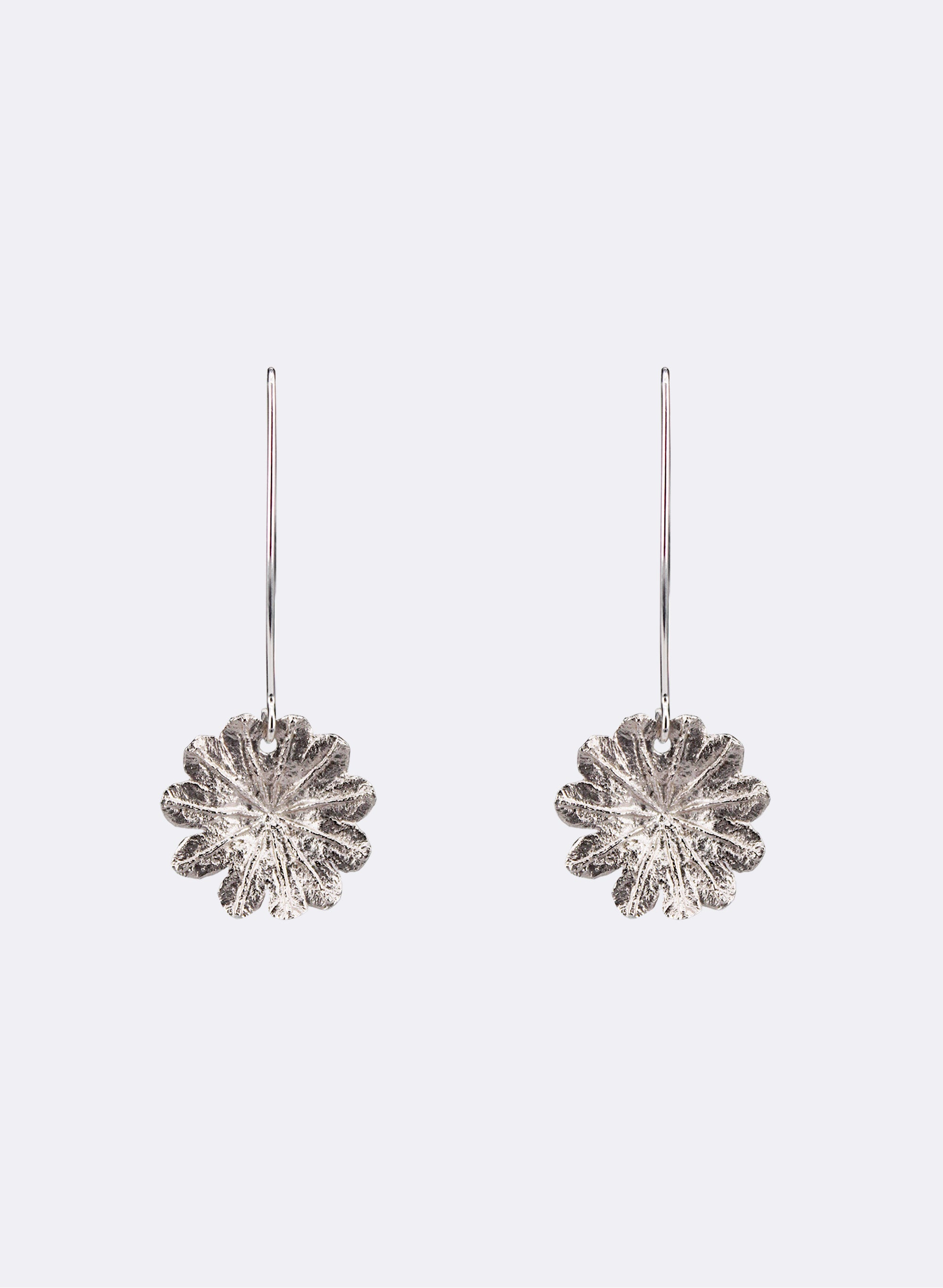 Poppy Top Hooks - Stirling Silver