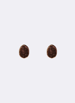 Coffee Bean Studs - Sterling Silver & Bronze