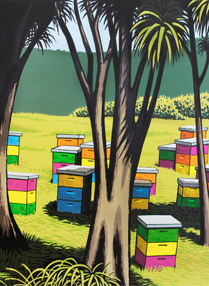 Bright Hives Waipiro - Screen Print