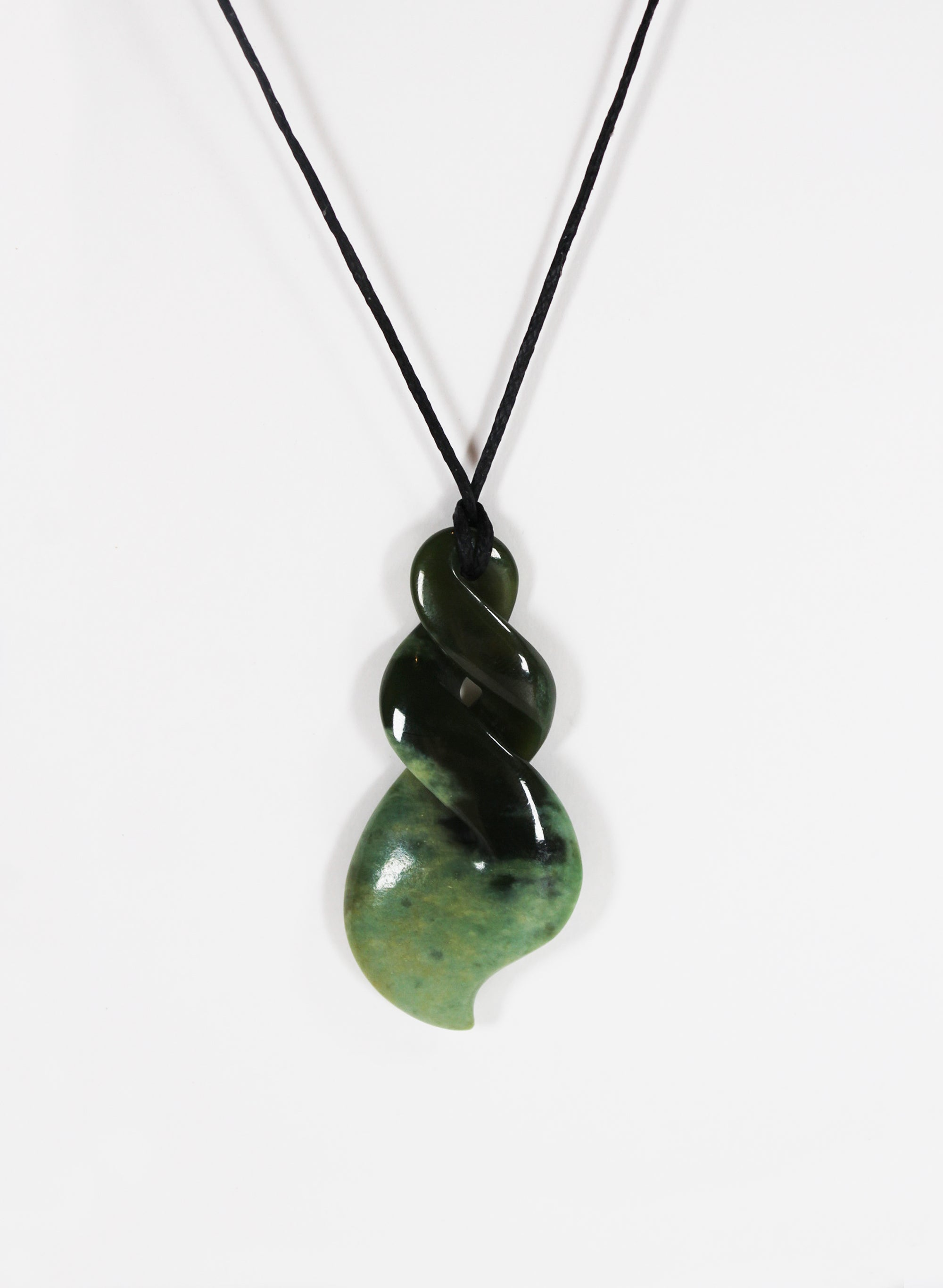 Double Twist Pounamu Pendant