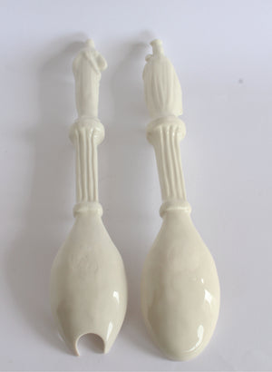 Religious Iconographic Salad Servers