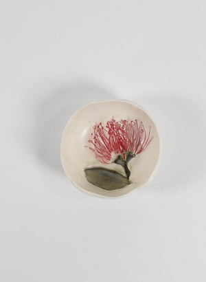 Small Pohutukawa Pinch Bowl #17