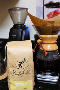 Baratza burr grinder with Bugle Call Coffee subscription