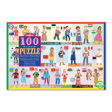 NEW eeBoo Children of the World 100 Piece Puzzle