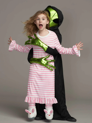 Alien abduction costume, 8-10