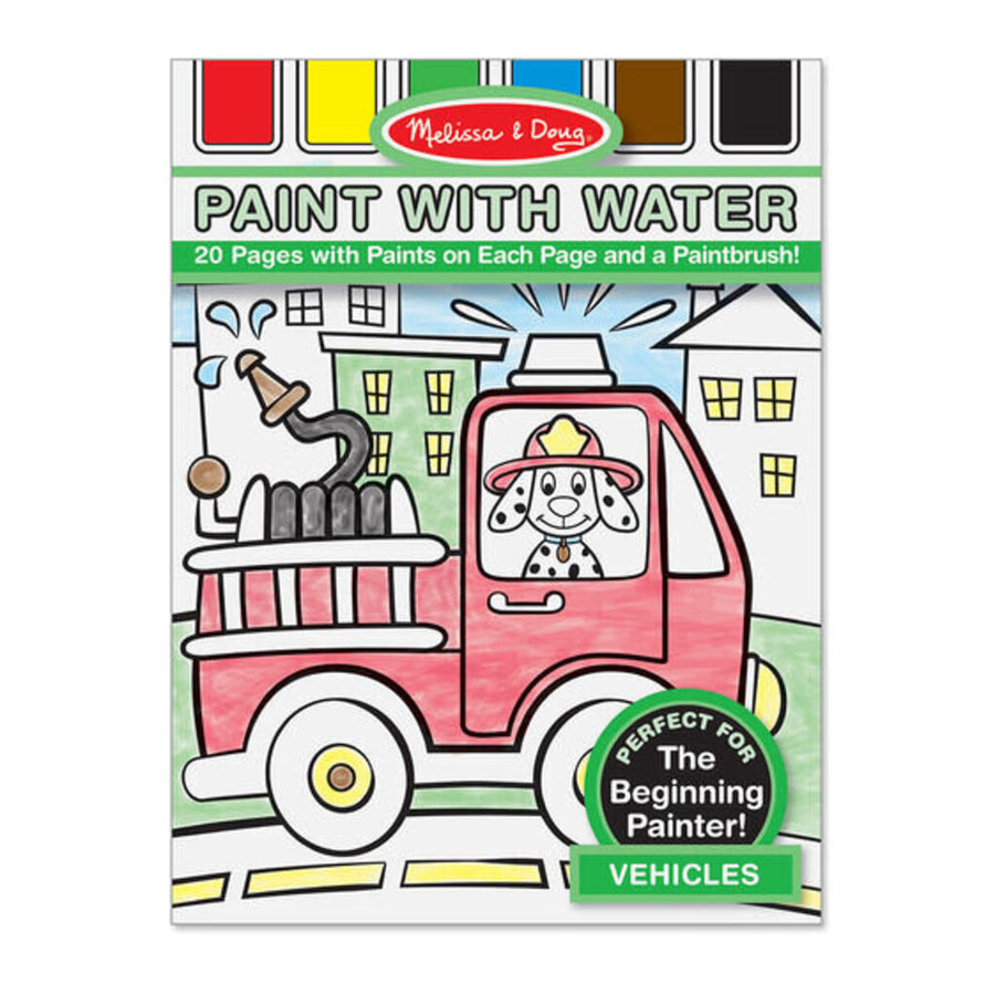 Melissa & Doug Paint with Water Art Pad - Vehicles