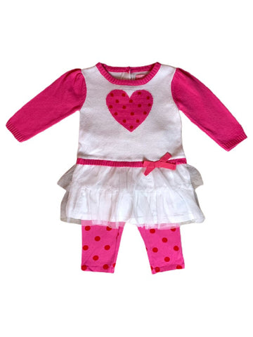 Children's Place 2-pd outfit, pink 6-9 months