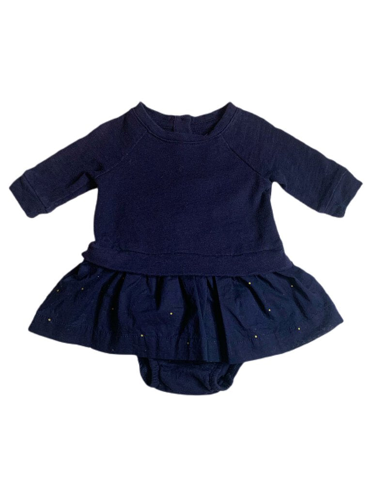 Gap dress, navy 0-3 months