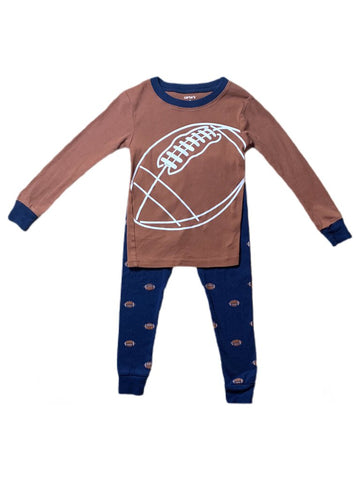 Carter's football pj's, 4