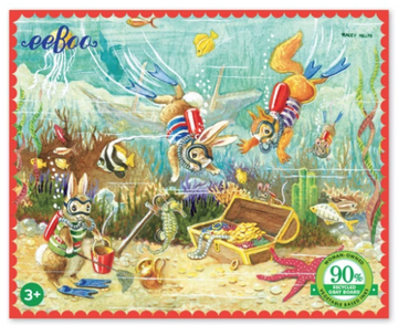 NEW eeBoo Finding Treasure 36 Piece Mini Puzzle