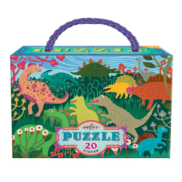 NEW eeBoo Dinosaur Meadow 20 Piece Puzzle