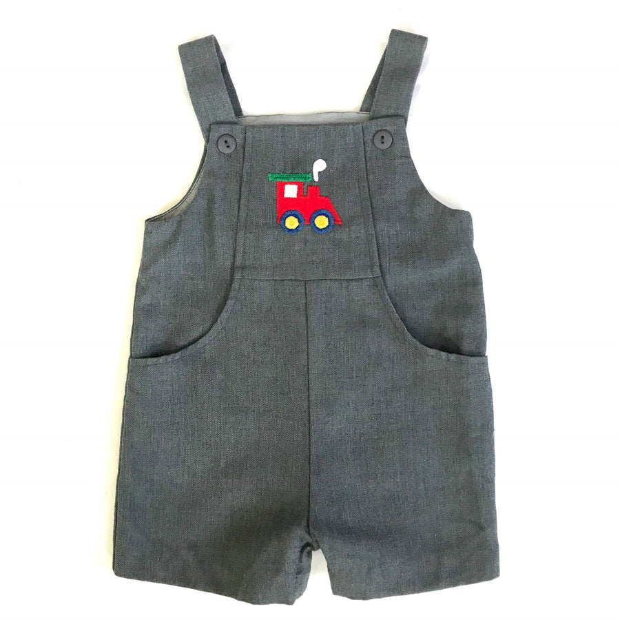 Florence Eiseman grey overalls, 12M