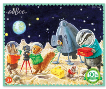 NEW eeBoo On The Moon 36 Piece Mini Puzzle
