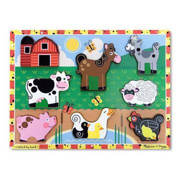 NEW Melissa & Doug Farm Chunky Puzzle