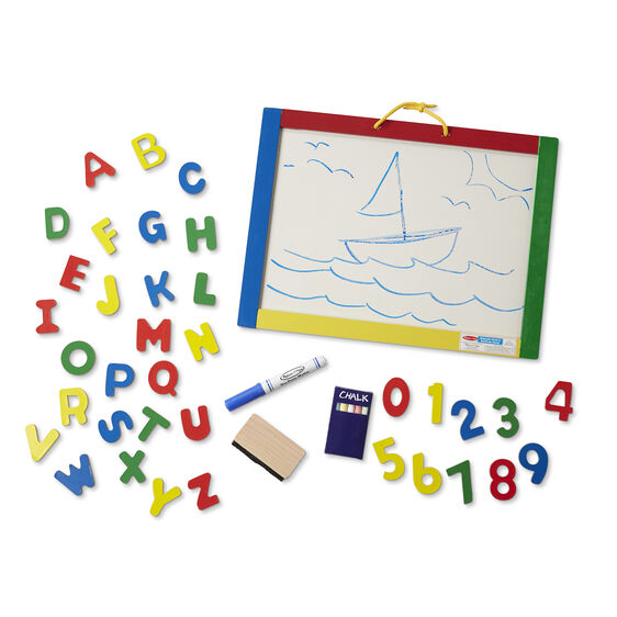 NEW Melissa & Doug Magnetic Chalkboard and Dry-Erase Board