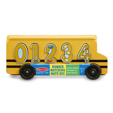 NEW Melissa & Doug Number Matching Math Bus