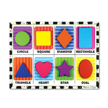 NEW Melissa & Doug Shapes Chunky Puzzle
